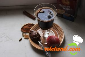 Red wine coffee punch
