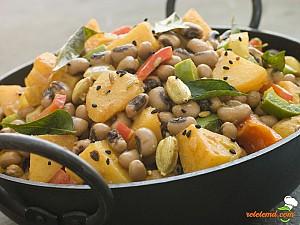 Salată de cartofi şi fasole