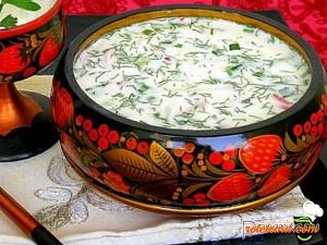 Okroshka cu iaurt (chefir)