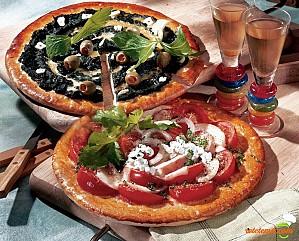 Pizza vegetariană dublă