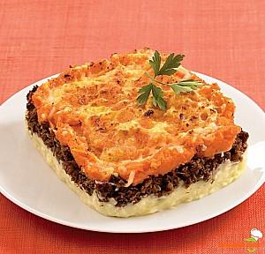 Plăcinta ciobanului cu morcov