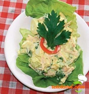 Salată de ouă cu șuncă