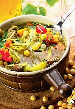 Ciorbă de varză cu legume asortate