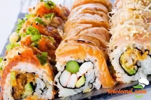 Rulouri de peşte cu legume